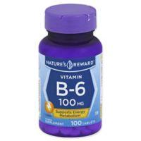 Nature's Reward 100-Count Vitamin B-6 100 mg Tablets
