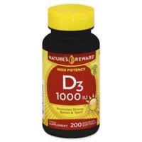 Nature's Reward 200-Count 1000 IU Vitamin D3 Quick Release Softgels