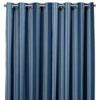 Commonwealth Home Fashions Gazebo Striped 84-Inch Outdoor Curtain in Blue
