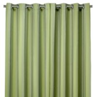 Commonwealth Home Fashions Gazebo Striped 84-Inch Outdoor Curtain in Green