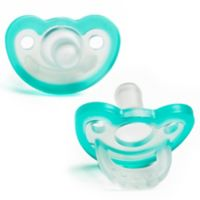 RaZbaby JollyPop 3M+ 2-Pack Silicone Pacifiers in Blue