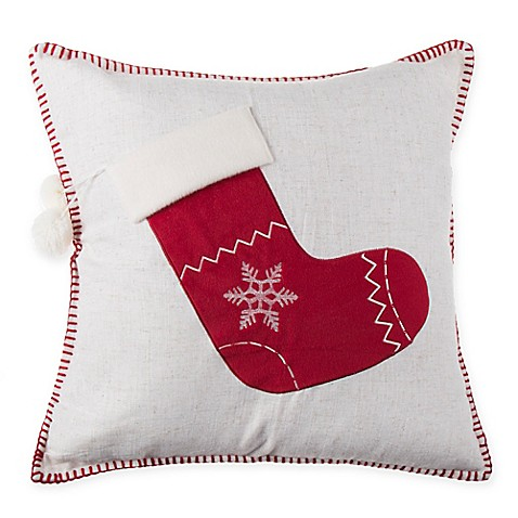 make your own pillow stocking throw pillow cover bed bath beyond. Black Bedroom Furniture Sets. Home Design Ideas