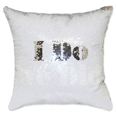 Greatest Buy Silver Sequin Pillow from Bed Bath & Beyond FN64