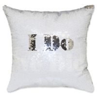 """I Do, We Did"" Mermaid Sequin Throw Pillow"