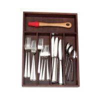 Lipper 11-Inch x 14-Inch Deep Cutlery Tray in Walnut