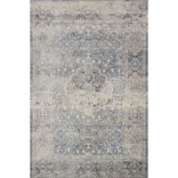 Magnolia Home by Joanna Gaines Everly 6-Foot 7-Inch x 9-Foot 2-Inch Area Rug in Mist