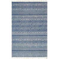 Magnolia Home by Joanna Gaines June 2-Foot 3-Inch x 3-Foot 9-Inch Accent Rug in Blue