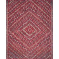 Magnolia Home by Joanna Gaines Lucca 3-Foto 9-Inch x 5-Foot 6-Inch Area Rug in Red/Multi