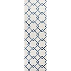 Impressions Courtyard Runner in Ivory/Blue