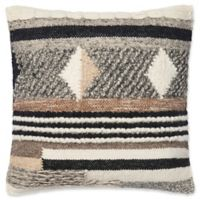 Magnolia Home Shannon Square Throw Pillow in Brown/Grey