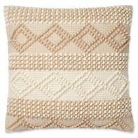 Magnolia Home by Joanna Gaines Beverly 22-Inch Square Throw Pillow in Beige/Ivory