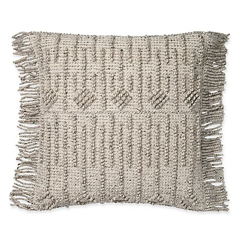 image of Magnolia Home by Joanna Gaines Everett 22-Inch Square Throw Pillow in Grey