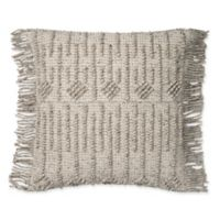 Magnolia Home by Joanna Gaines Everett 22-Inch Square Throw Pillow in Grey