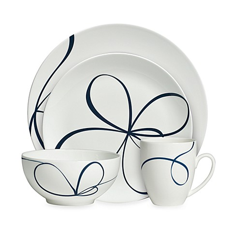 Vera Wang Wedgwood® Glisse 4-Piece Dinnerware Place Setting