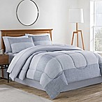 Collin 8-Piece Queen Comforter Set in Grey
