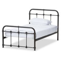 Baxton Studio Mandy Metal Twin Platform Bed in Black