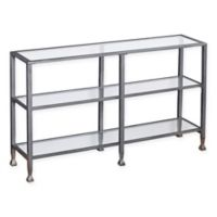 Southern Enterprises Jaymes 3-Tier Console Table in Silver