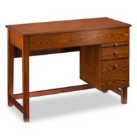 Southern Enterprises Edenton Midcentury Adjustable Height Desk in Oak