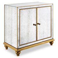 Pulaski Antique Mirrored 2-Door Wine Cabinet with Gold Trim