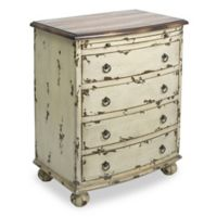Pulaski Chest Distressed Two-Tone Drawer Chest in White