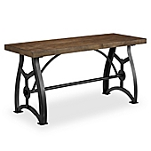 Delightful Pulaski Rosebank Wood And Metal Dining Bench In Honey