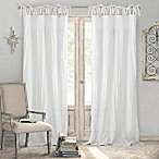 Elrene Jolie Crushed Semi-Sheer108-Inch Tie Top Window Curtain Panel in White