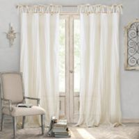 Elrene Home Fashions® Jolie 108-Inch Tie Top Sheer Window Curtain Panel in Ivory