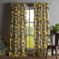 Kensie Keila 84-Inch Rod Pocket Window Curtain Panel Pair in Yellow