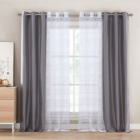 Kensie Matilda Rod Pocket Window Curtain Panel Pair