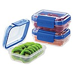 Progressive® SnapLock™ 1-Cup Rectangular Food Storage Container in Blue (Set of 3)