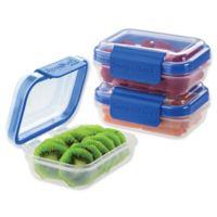 Progressive® SnapLock™ 1-Cup Rectangular Food Storage Container in Blue (Set of 3)
