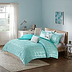 Intelligent Design Raina 4-Piece Twin/Twin XL Comforter Set in Aqua/Silver
