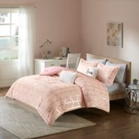 Intelligent Design Raina 4-Piece Twin/Twin XL Comforter Set in Blush/Gold
