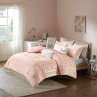 Intelligent Design Raina 5-Piece King/California King Comforter Set in Blush/Gold