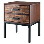 Winsome Trading Jefferson End Table in Nutmeg