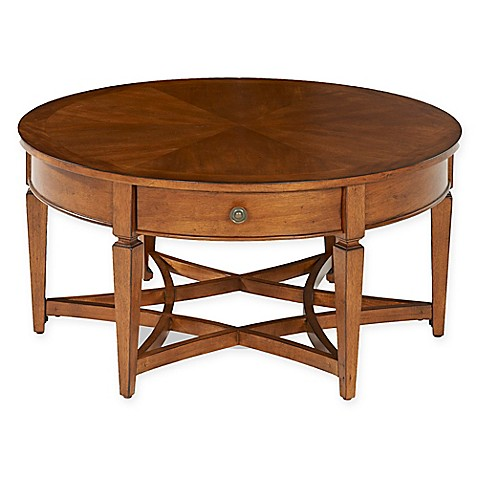 Klaussner Wentworth Round Cocktail Table In Brown Bed Bath Beyond