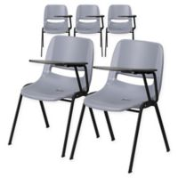 Flash Furniture Chairs with Left Flip-Up Tablet Arms in Grey (Set of 5)