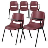 Flash Furniture Chairs with Left Flip-Up Tablet Arms in Burgundy (Set of 5)