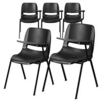 Flash Furniture Chairs with Left Flip-Up Tablet Arms in Black (Set of 5)