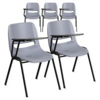Flash Furniture Chairs with Right Flip-Up Tablet Arms in Grey (Set of 5)