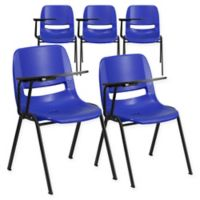 Flash Furniture Chairs with Right Flip-Up Tablet Arms in Blue (Set of 5)