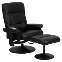 Flash Furniture 42-Inch Bonded Leather Massaging Recliner in Black