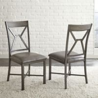 Steve Silver Alamo Dining Side Chairs in Grey (Set of 2)
