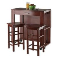 Winsome Trading 3-Piece Fremont Dining Set in Walnut