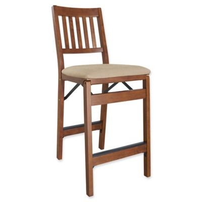 stakmore folding counter stools with fruitwood finish set of 2