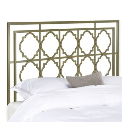Safavieh Silva King Metal Headboard In Silver