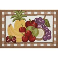 Nourison Everywhere Fruit 1-Foot 8-Inch x 2-Foot 6-Inch Accent Rug in Brown