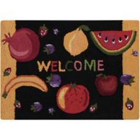 Nourison Everywhere Welcome 1-Foot 8-Inch x 2-Foot 6-Inch Accent Rug in Black