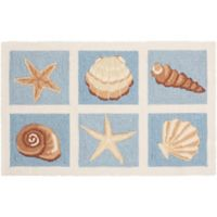Nourison Everywhere Costal 1-Foot 8-Inch x 2-Foot 9-Inch Accent Rug in Light Blue