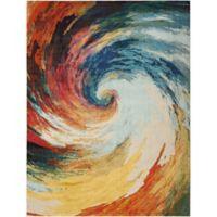 "Nourison Celestial 7'10"" x 10'6"" Machine Woven Area Rug in Wave"